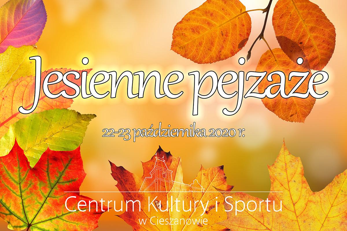 """Zapraszamy na konkurs """"Jesienne Pejzaże"""" 2020"""